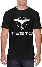 SOTTK Camisetas y Tops Hombre Polos y Camisas, Mens Classic Tiesto Logo DJ T-Shirts Black