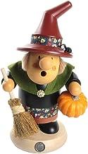 Müller German Incense Smoker Muellerchen Halloween Witch with Pumpkin, Height 19 cm / 7 inch, Original Erzgebirge by Muell...