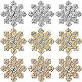 54 Adornos de Botones de Cristal de Diamantes de Imitación de Copo de Nieve Apliques de Diamantes de Copo de Nieve con Espalda Plana Manualidades para Botón Broche Boda Accesorios de Pelo Joyas