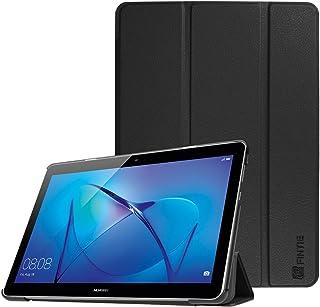 Fintie SlimShell Funda para Huawei MediaPad T3 10 - Súper Delgada y Ligera Carcasa Protectora con Función de Soporte para Huawei Mediapad T3 10 Tablet de 9.6 pulgadas IPS HD, Negro