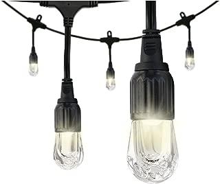 Enbrighten Classic LED Cafe String Lights, Black, 18 Foot Length, 9 Impact Resistant Lifetime Bulbs, Premium, Shatterproof, Weatherproof, Indoor/Outdoor, Commercial Grade, UL Listed, 33307