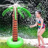 Xnuoyo Aspersor Hinchable de Palmera, Juguetes inflables del Agua del Aspersor de la Palmera del Patio para los Niños, Rrociador de Agua para Niños, Palmera Hinchable para Fiesta Piscina
