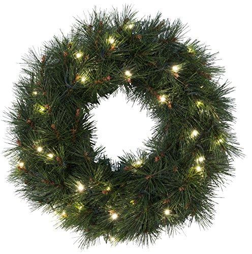 Star, Corona di pino LED, con 30 lucine a LED, diametro 50 cm
