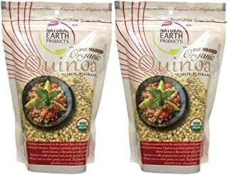 Sponsored Ad - Quinoa White Whole Grain Raw Organic - Pre Washed - Protein, Fiber & Iron - Rice & Pasta Substitute - Glute...