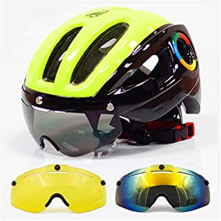 HK-Kensolng Ultraligero EPS Casco de Bicicleta para Hombres Carretera MTB Mountain Bike Casco Lentes Gafas Ciclismo Equipos 9 Vents Casco Ciclismo