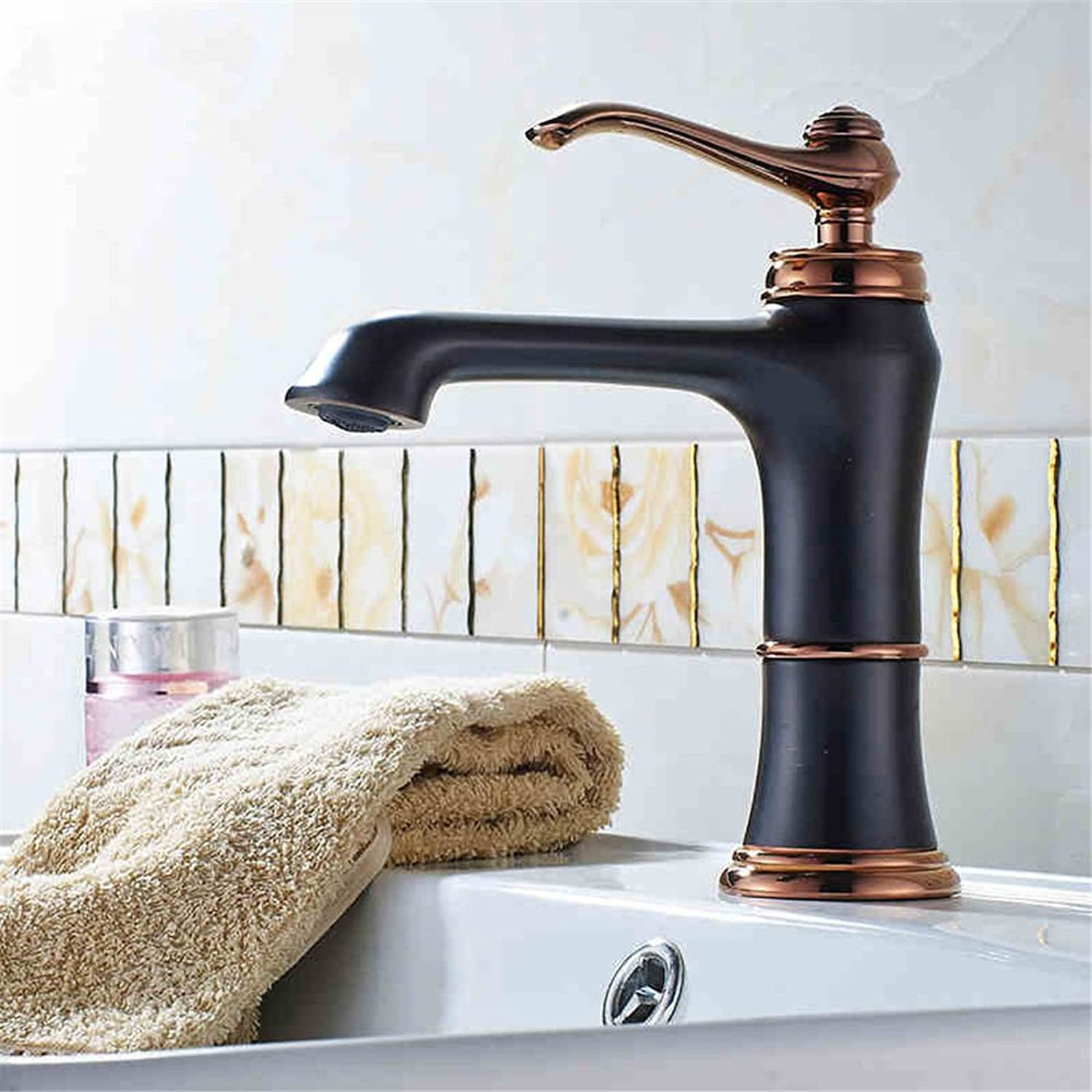 ETERNAL QUALITY Bathroom Sink Basin Tap Brass Mixer Tap Washroom Mixer Faucet The Copper Black mixer console basin mixer antique Vanity basin cold water tap black cock Ki