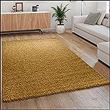 Alfombra De Pelo Largo, Shaggy para Salón, Suave Mullida Duradera Resistente, tamaño:200x280 cm, Color:Amarillo