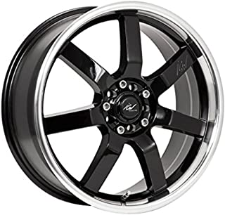 ICW Tsunami 17x7.5 Black Wheel / Rim 5x100 & 5x4.5 with a 42mm Offset and a 73.00 Hub Bore. Partnumber 214MB-7751842