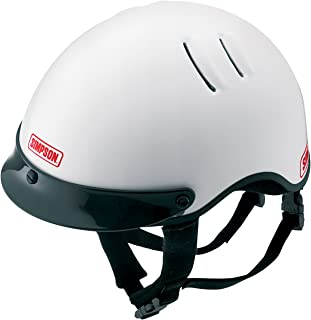 Simpson Racing 1430031 Over The Wall Large White Shorty Helmet