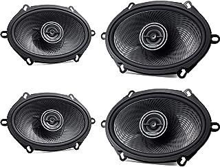 Kenwood Front/Heck 5x7/15x20cm Auto Lautsprecher/Boxen/Speaker Komplett Set kompatibel für Ford