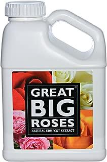 Great Big Roses Organic Rose Food Fertilizer, All Natural Liquid Compost Extract, 1 Gallon