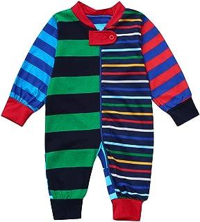 Family Pajamas Sets, Matching Family Christmas PJs Set Stripe Print Romper+ Stripe Pants+Tops