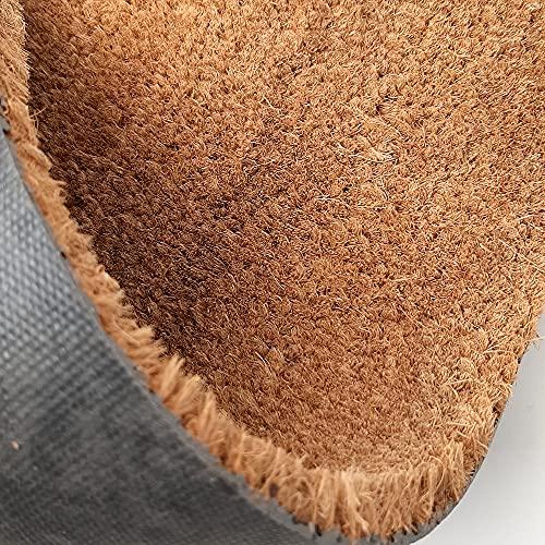 Felpudos Personalizado con Texto y/o diseño de Coco Natural con Base Antideslizante | Felpudos Originales para Entrada de casa, Interior o Exterior | Mi Diseño - 33 x 60 cm