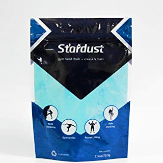Stardust High Performance Colored Hand Chalk| Non Toxic- No Fillers- Grip Enhancer- Made with Magnesium Carbonate| Made for Climbing, Weight Lifting, Gym Training, Cross Fit, Gymnastics, Pole Dancing.