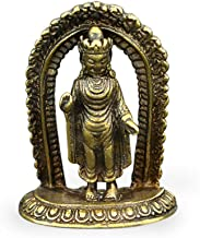 Pocket Small Buddha Statue Nepal Small Bronze Statue Antique Bronze Carving Old Bronze Ware Bronze Handle
