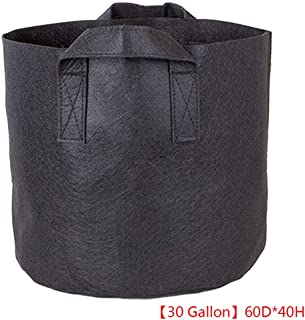Joick Outdoor Round Flower Planting Bag Green Rim Plant Growth Pouch PP Nonwoven Vegetable Growing Pot 1-34 Gallons