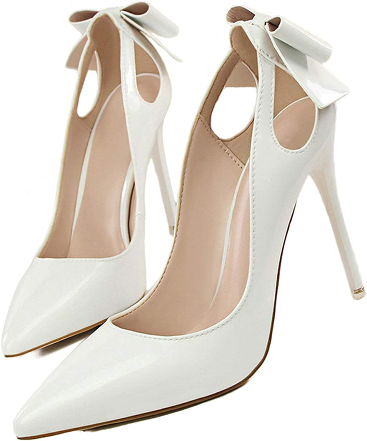 Women Wedding Pumps Ladies shoes Women's Sweet Concise Shallow Cutouts Butterfly-Knot shoes