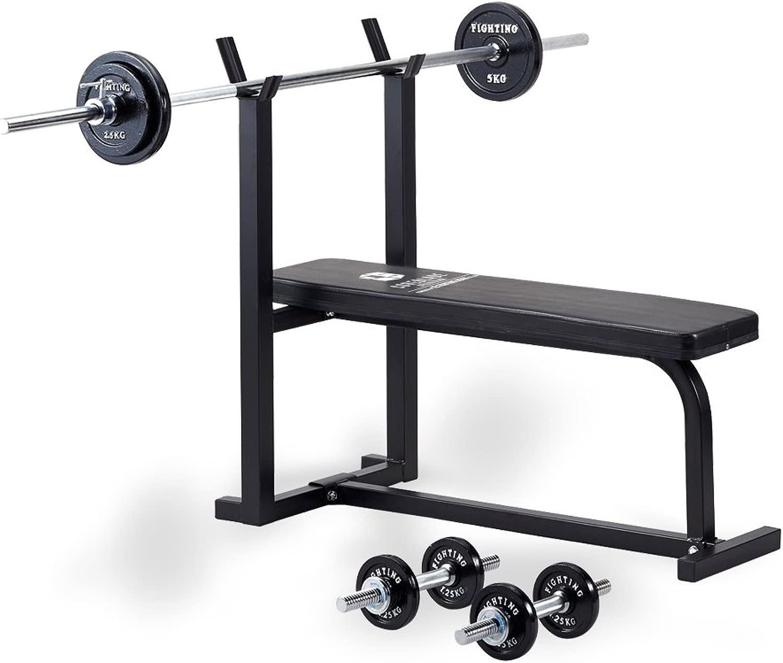 スターターセット (トレーニングベンチ+ダンベル、バーベルブラックタイプ30kgセット)