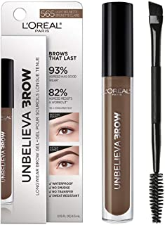 L'Oreal Paris Unbelieva-Brow Tinted Brow Makeup, Longwear, Waterproof Brow Gel, Sweat Resistant,...
