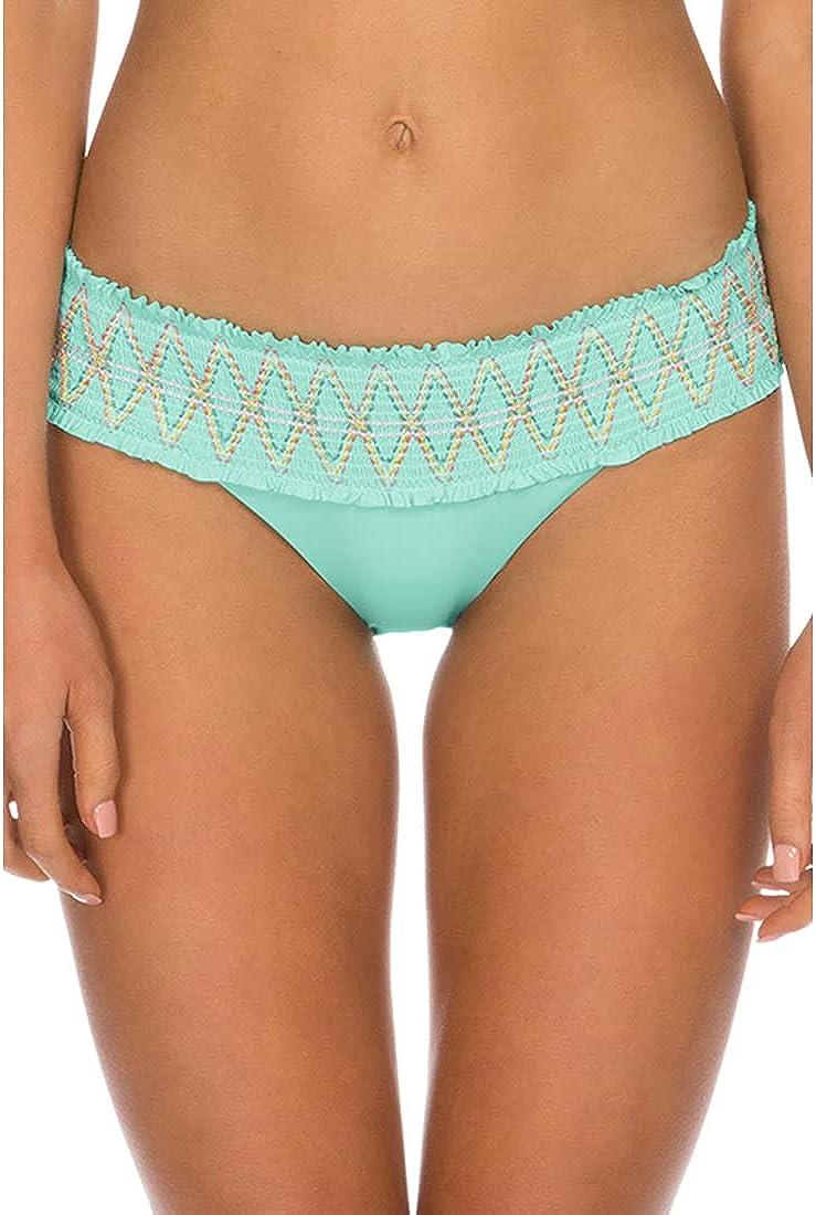 ISABELLA ROSE Women's Double Take Banded Hipster Bikini Bottom,
