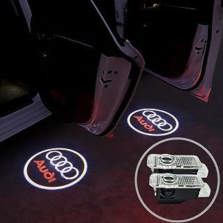 AUDIカーテシ LEDレーザーロゴライト PAYIXUNGZGSドアレーザーライト カーテシライト高質感 耐久性に優れる 純正交換タイプ AUDI汎用 C00-4