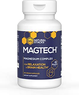 Sponsored Ad - Natural Stacks MagTech Magnesium Supplement 90 ct. - High Quality Triple Blended 100% Chelated Magnesium Co...