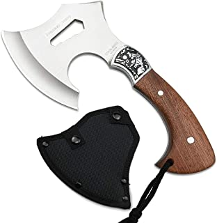 NedFoss Throwing Axe - Camping Axe with Sheath, Full Tang Axe Hatchet w/ 4.5 Inch Blades for Outdoor Survival Hunting and Everyday Tasks