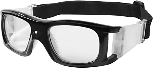 Micnaron Outdoor Sports Goggles Over Glasses, Adjustable Soccer & Basketball Protective Eyewear w/Silicone Padding