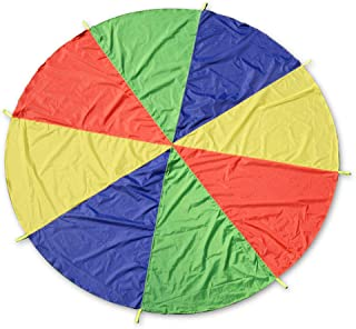 DAYONG Kids Play Parachute Sports Outdoor Rainbow Umbrella Parachute Toy for Kids Tent Game for Children Gymnastic Coopera...