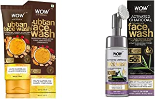 WOW Skin Science Ubtan Face Wash with & WOW Skin Science Charcoal Foaming Face Wash