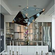Gouden Zilver High-End Luxe Hotel Lobby Club Creatieve Diamond Gehard Glas Kroonluchter Model Kamer Hall Enkele Head Lamp...