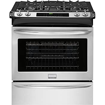 GE JGS760EELES Slate Series 30 Inch Slide-in Gas Range with Sealed Burner Cooktop 5.6 cu Primary Oven Capacity in Slate ft