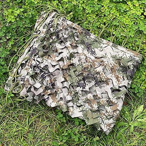 NOBRAND Digital Woodland Camo Netting - (2×3 M) Summer Jungle Camouflage Netting Cover Camping Military Hunting Shooting Blind Watching Hide Party Decorations Multipurpose (Size : 3X6m(10ft X 20ft))