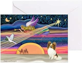 CafePress Xmas Star/Papillon Greeting Card, Note Card, Birthday Card, Blank Inside Matte
