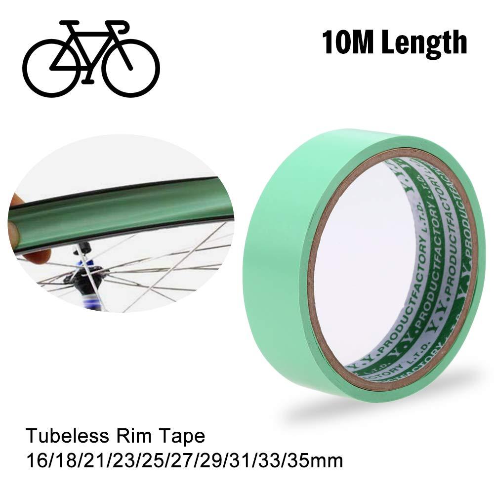Lixada Tubeless Rim Tape Cinta de Borde sin Cámara de Longitud 10 m, Almohadilla del Neumático 16/18/21/23/25/27/29/31/33/35 mm para Rueda de Bicicleta de Montaña (16mm): Amazon.es: Deportes y aire libre