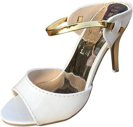 ホット販売、aimtoppy女性のファッションopen-toed魚口ハイヒールサンダル靴 US:7.5 ゴールド AIMTOPPY