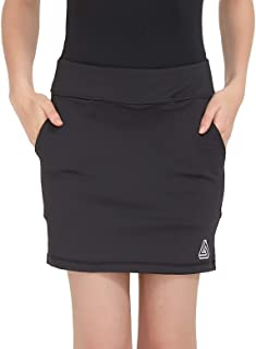 Women Active Athletic Skorts with Pockets - Lightweight Quick Dry Skirt with Short for Workout Sports