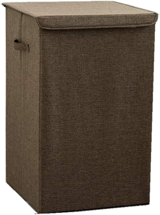 Danlan Laundry Hamper with Lid and Removable Liners ,Linen Freestanding Laundry Storage Baskets with Handles for Bedroom,Bathroom
