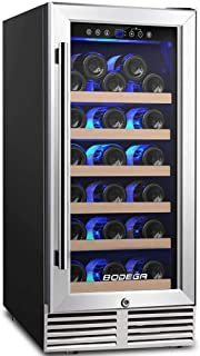 BODEGA 15 Inch Wine Cooler, Built-in Wine Refrigerator 31 Bottle with Compressor Cooling,Constant Temperature System,Front...