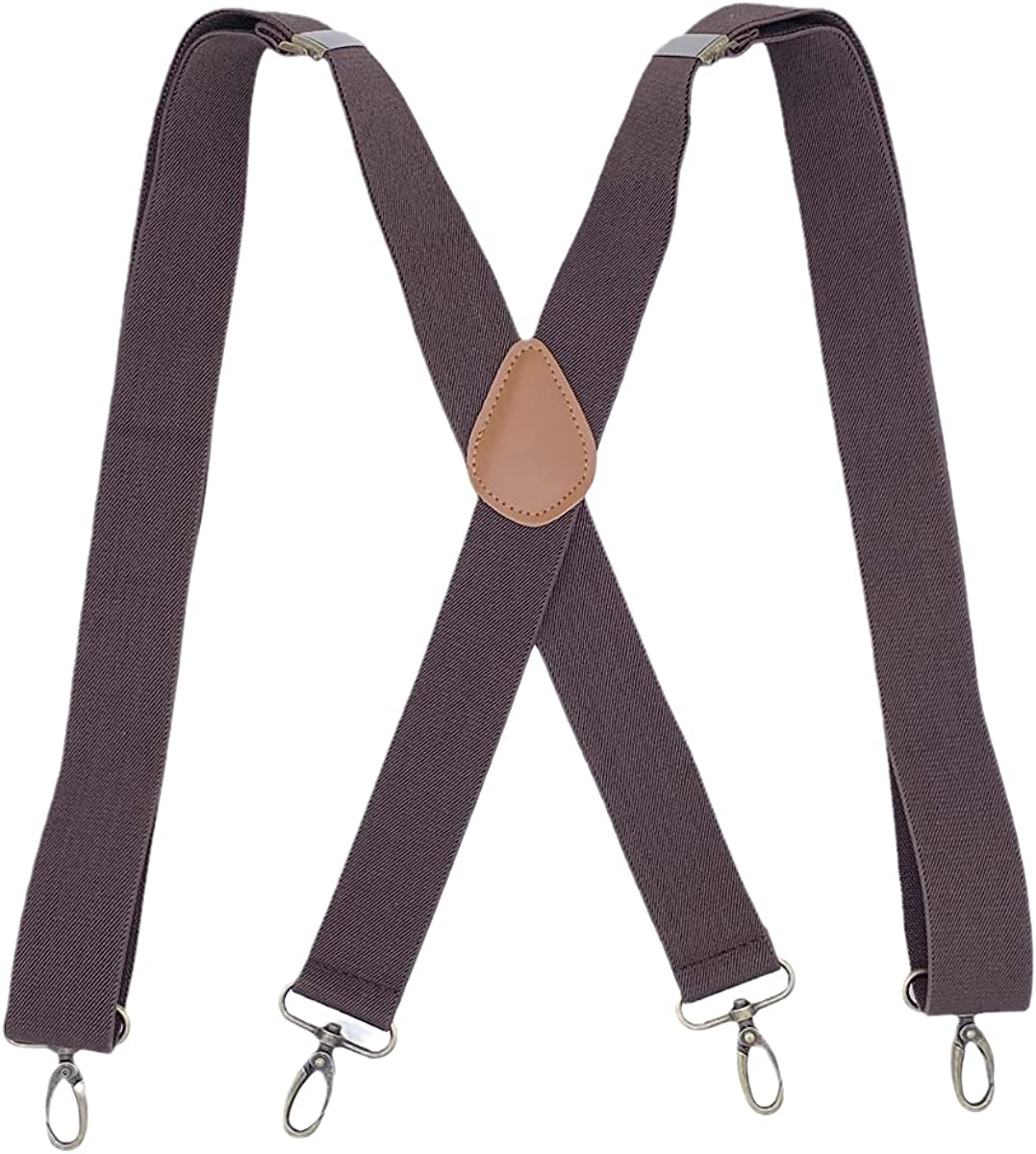 Suspenders for Men with Swivel Hooks Heavy Duty X-Back Adjustable Elastic Brace