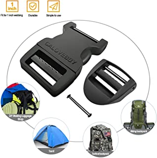 Field Repair Buckle Plastic Buckle Adjustable Buckle 1 Inch Strap Flat Side Release for Military Grade Buckles,Tactical Backpack Hiking Backpack Repairing,Camping Accessories,Luggage Strap(2pcs)