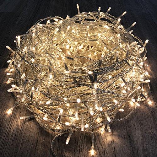 400er LED Tannenbaum Lichterkette Weihnachtslichterkette Warmweiß für Innen & Außen Weihnachtszeit Party transparentes Kabel