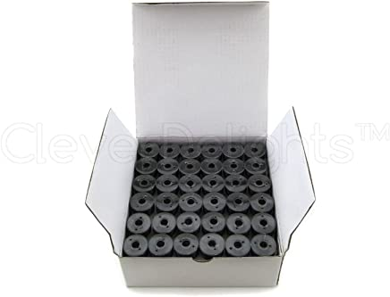 60wt Size A Class 15 Bobbins SA156 Replacement for Brother Embroidery Machines CleverDelights 12 Pack Black and White Prewound Bobbins 7//16 x 13//16