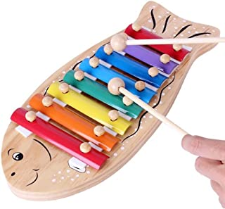 Educational Musical Instrument Toy Fish Piano Serinette Cartoon Fishlike Violin Toy for Preschool Kids Students