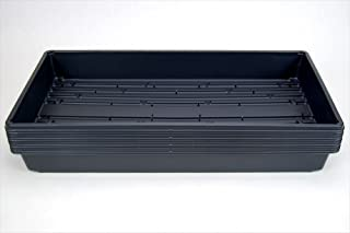 """10 Plant Growing Trays (WITH Drain Holes) - 20"""" x 10"""" - Perfect Garden Seed Starter Grow Trays: For Seedlings, Indoor Gardening, Growing Microgreens, Wheatgrass & More - Soil or Hydroponic"""