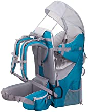 BJYX Child Carrier with Rain Sun Cover Foldable Backpack Hiking Backpack Carrier Camping Maximum Load 20 Kg