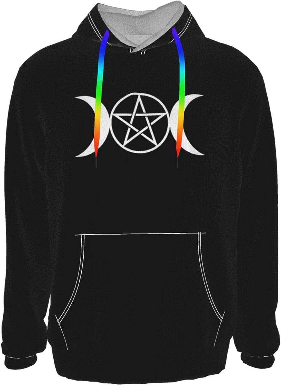 Department store Triple Moon Sale SALE% OFF Pentacle Pagan Girl's Sweatshirt Sle Boy's Long Soft