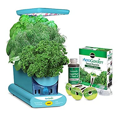 AeroGarden Sprout LED with Gourmet Herb Seed Pod Kit, Teal