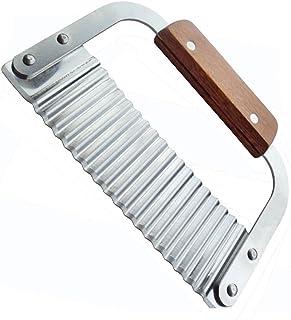 comprar comparacion Cuchillo decorador ondulado,Cortador Ondulado Para Verduras,Hoja de acero inoxidable y mango de madera