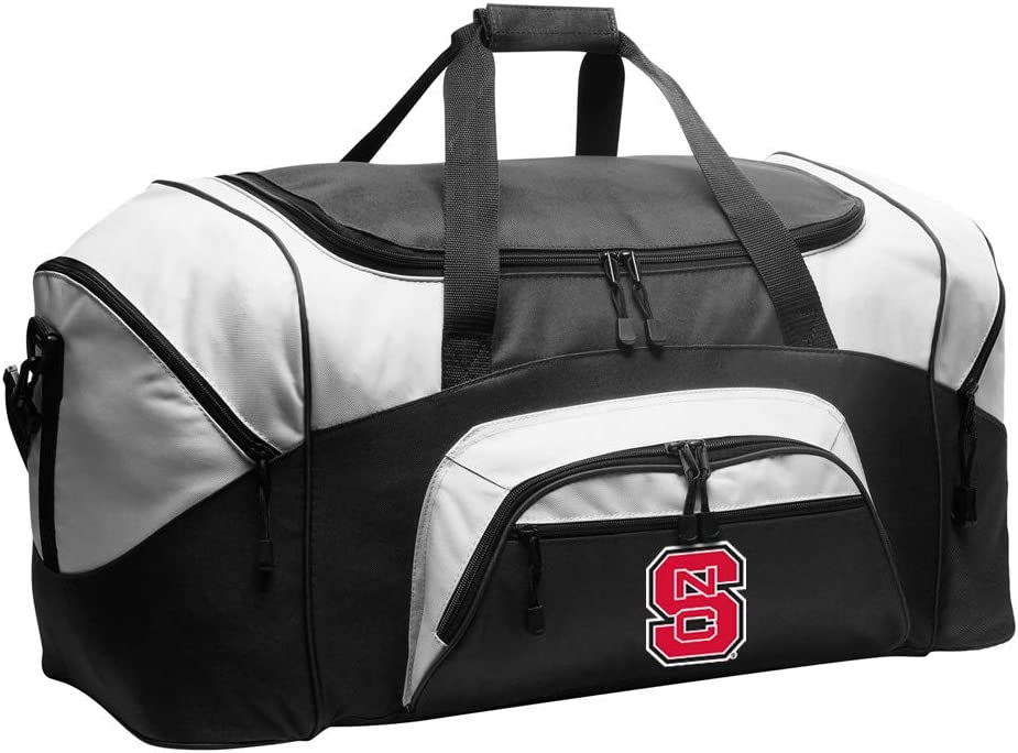 LARGE NC State Fresno Mall Bombing new work Wolfpack Duffel Bag Gym or Suitcase